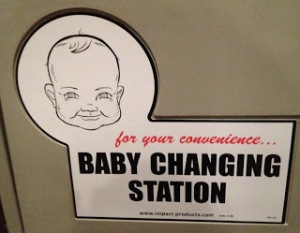 If this were in the bathroom, I don't know if I'd use it to further expose my kid to a men's room.