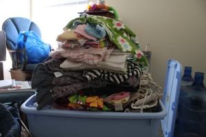 This is not our pile of baby clothes. But you could imagine what it'd be like if it was.